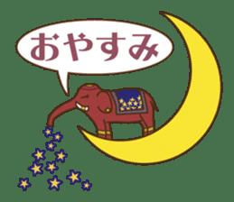 Ethnic Elephant and the sun. sticker #6865487
