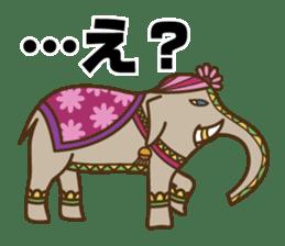 Ethnic Elephant and the sun. sticker #6865488