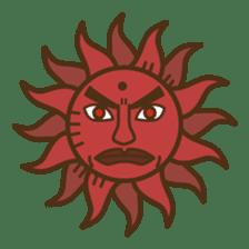 Ethnic Elephant and the sun. sticker #6865492