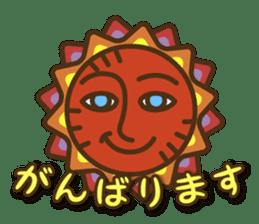Ethnic Elephant and the sun. sticker #6865493