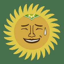 Ethnic Elephant and the sun. sticker #6865495