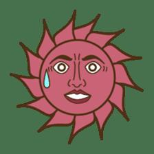 Ethnic Elephant and the sun. sticker #6865501