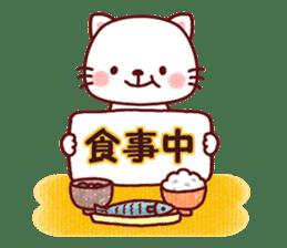 White cat and friends. sticker #6866032