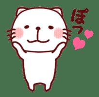 White cat and friends. sticker #6866053