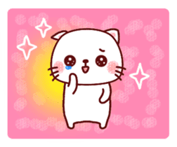 White cat and friends. sticker #6866058