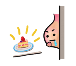 """The stomach is """"I-chan"""". sticker #6866357"""