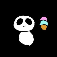 無表情パンダ