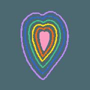 สติ๊กเกอร์ไลน์ super duper rainbow !
