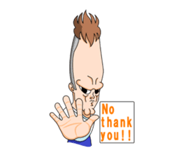long face man engrish version sticker #6890255