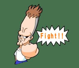 long face man engrish version sticker #6890258