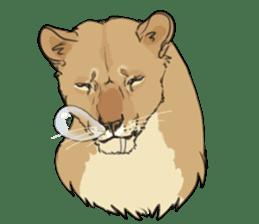 lion Sticker sticker #6892544