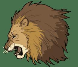lion Sticker sticker #6892545