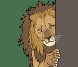 lion Sticker sticker #6892547