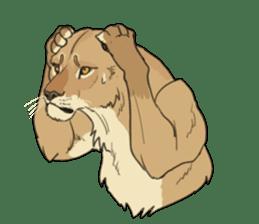 lion Sticker sticker #6892548