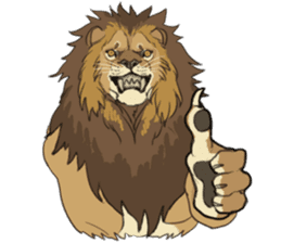 lion Sticker sticker #6892549