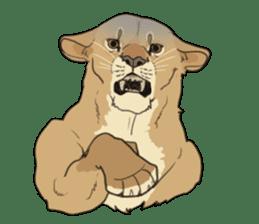 lion Sticker sticker #6892552