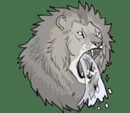 lion Sticker sticker #6892553