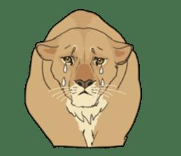 lion Sticker sticker #6892558