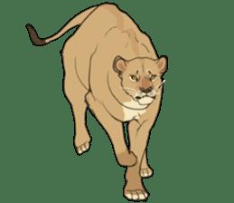 lion Sticker sticker #6892560