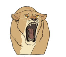 lion Sticker sticker #6892562