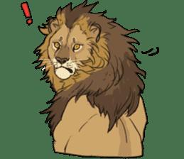 lion Sticker sticker #6892565
