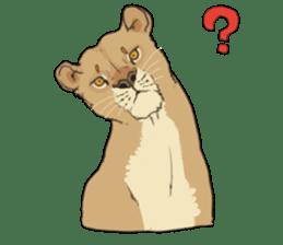 lion Sticker sticker #6892566