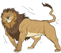lion Sticker sticker #6892570