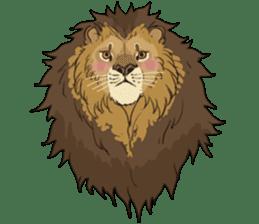 lion Sticker sticker #6892572