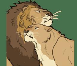 lion Sticker sticker #6892575
