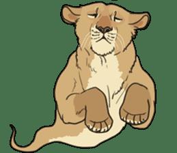 lion Sticker sticker #6892576