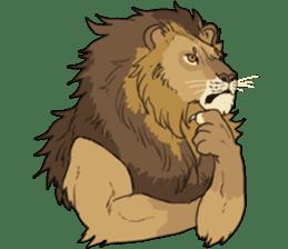 lion Sticker sticker #6892577