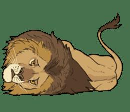 lion Sticker sticker #6892581