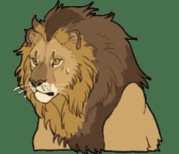 lion Sticker sticker #6892582