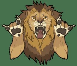 lion Sticker sticker #6892583