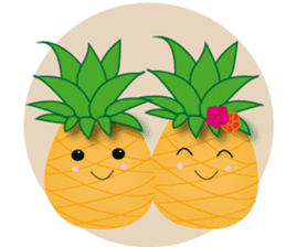Cute Pineapples sticker #6892956