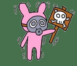 Rabbit and Gas mask sticker #6899075
