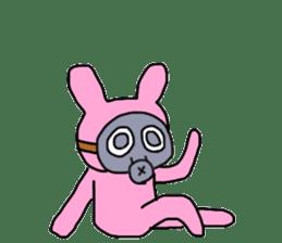 Rabbit and Gas mask sticker #6899089