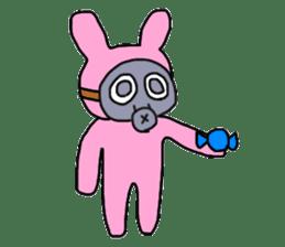 Rabbit and Gas mask sticker #6899107