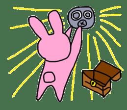 Rabbit and Gas mask sticker #6899111