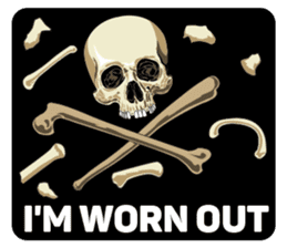 Skull and Bone Sticker English Version sticker #6899732