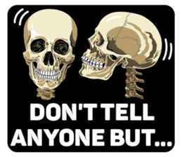 Skull and Bone Sticker English Version sticker #6899750
