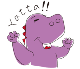 pink dinosaur(English) sticker #6900752