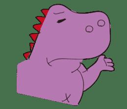 pink dinosaur(English) sticker #6900758