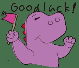 pink dinosaur(English) sticker #6900759