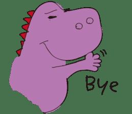 pink dinosaur(English) sticker #6900766