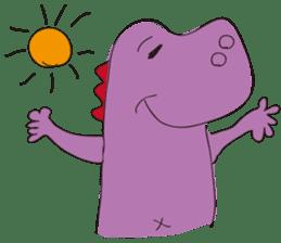 pink dinosaur(English) sticker #6900770