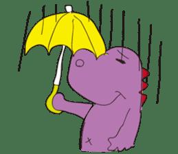 pink dinosaur(English) sticker #6900777