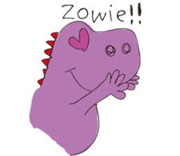 pink dinosaur(English) sticker #6900778