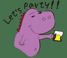pink dinosaur(English) sticker #6900786