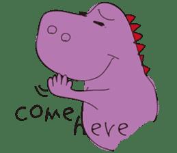 pink dinosaur(English) sticker #6900787
